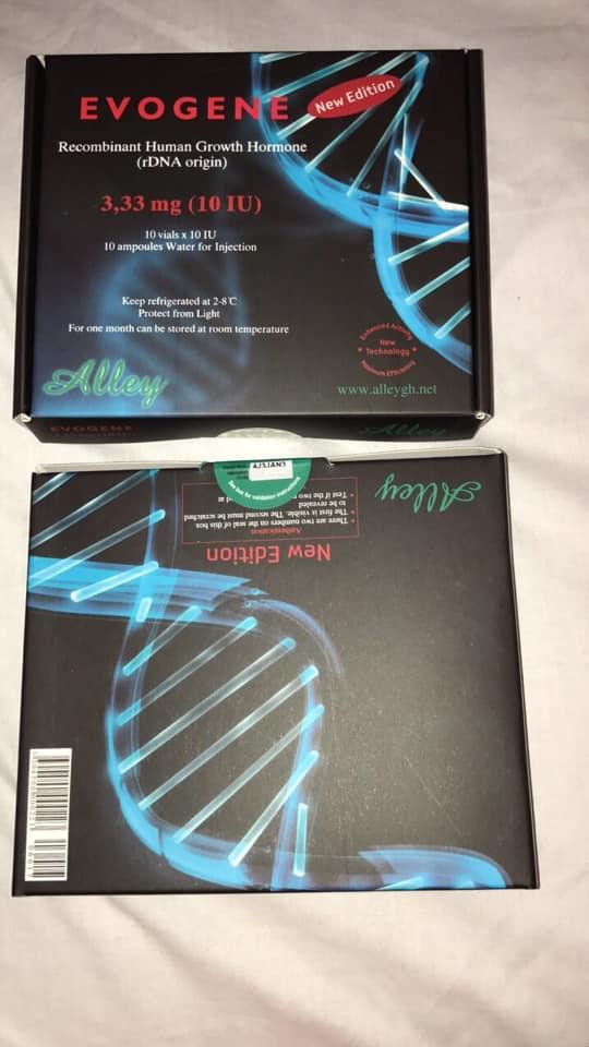 EVOGENE 3.3MG (10IU) Brand: ALLEY Active substance: Somatropin Strength: 3.3mg Packaging: (10 x 10iu vials) Kit