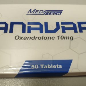 ANAVAR 10MG (OXANDROLONE) Manufacturer: Meditech Generic name: Oxandrolone Strength: 10mg Packaging: 50 Tablets pack