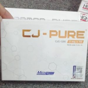 CJ-PURE CJC-1295 2MG Manufacturer:Meditech Strength:2mg Packaging: 10mg x 10 Vials, 10 x ampoules sterile water, packed in one box